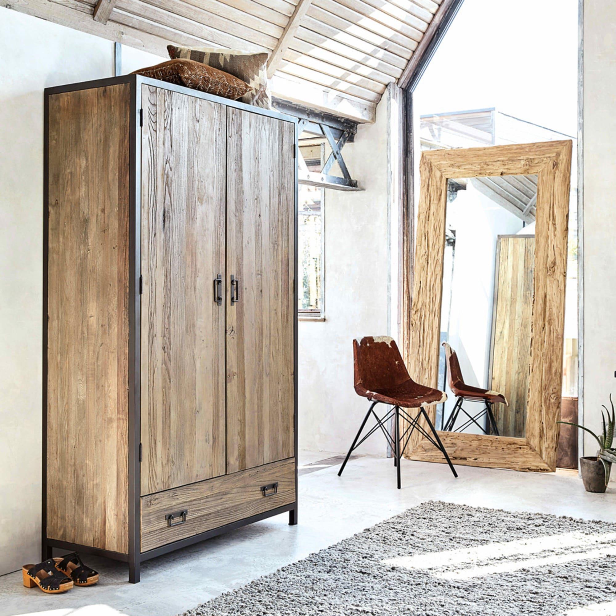 Miroir Woody en bois recyclé - Maisons du Monde