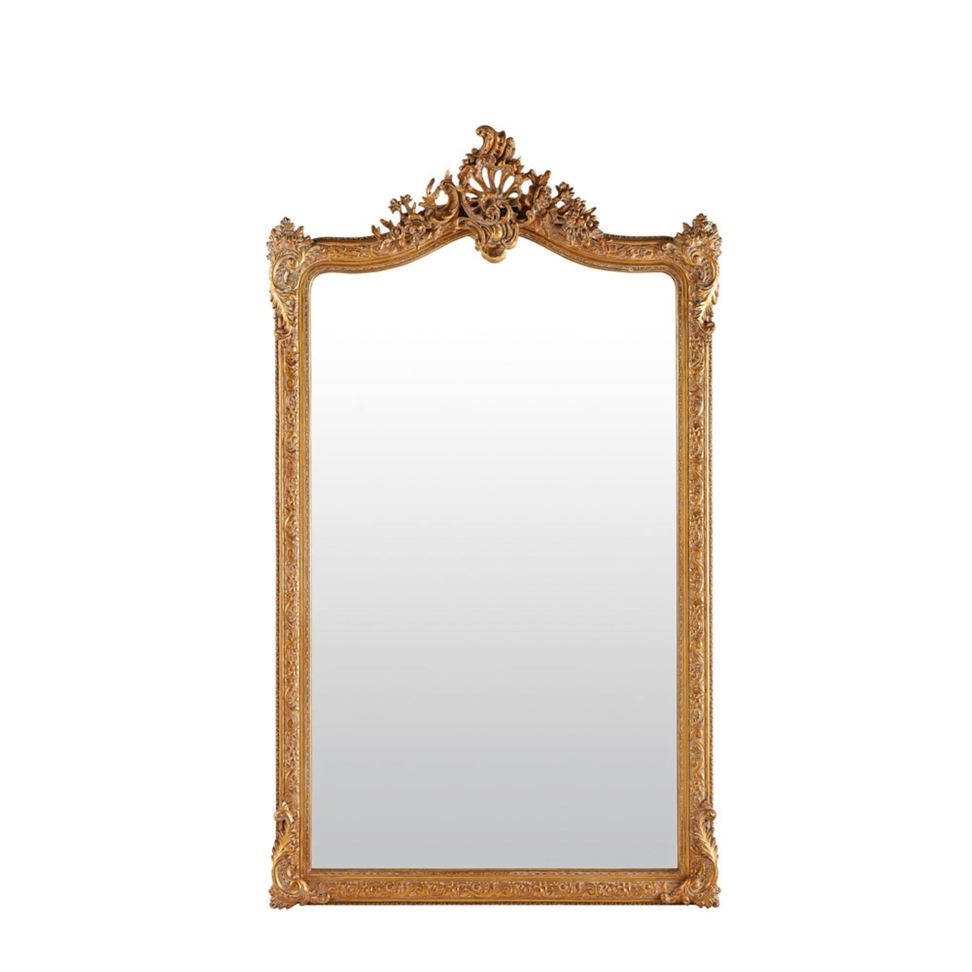 Brass Leaning Mirror