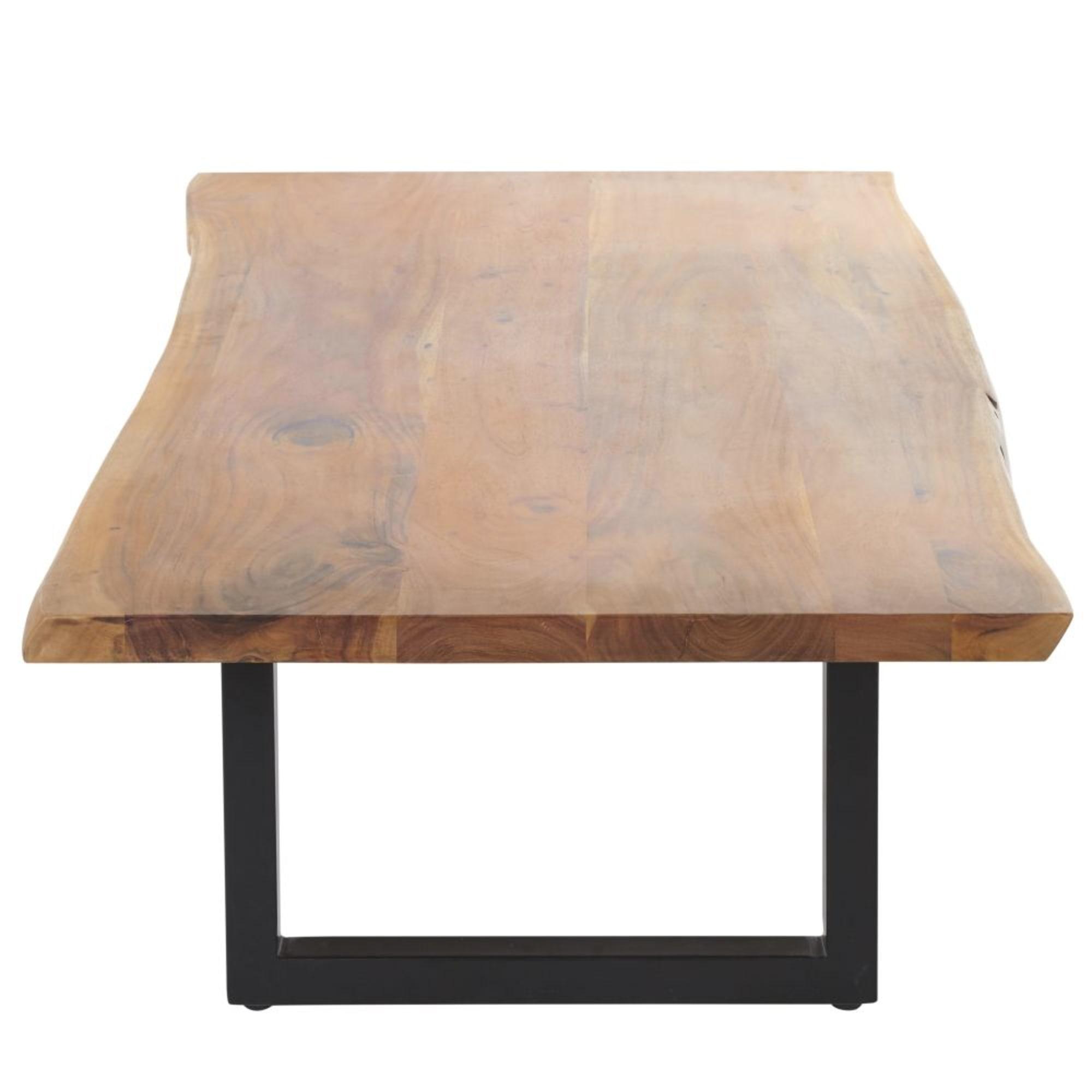 Table basse en acacia et métal noir Palissandre - Maisons du Monde