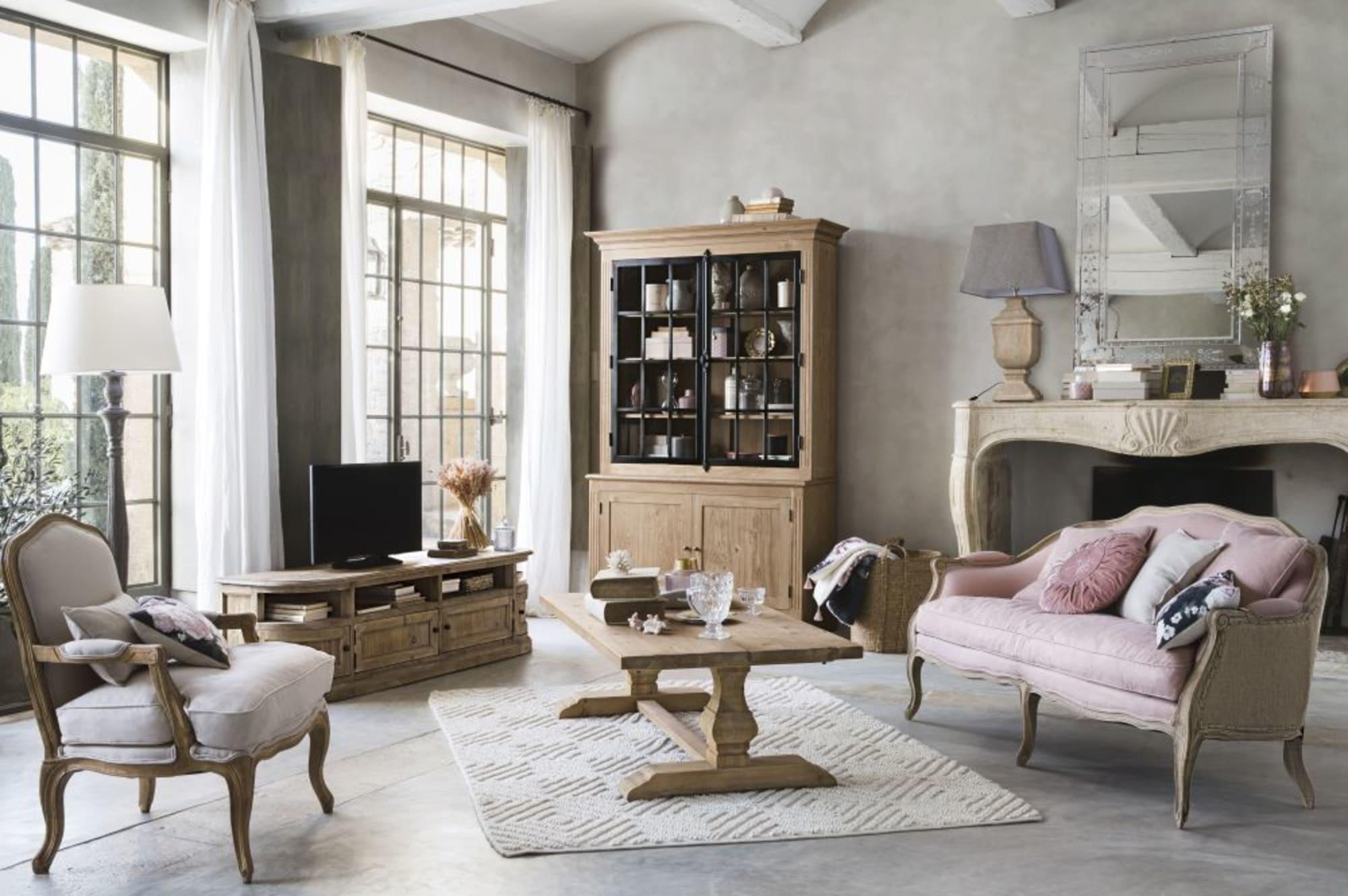 Table basse en pin effet vieilli Lourmarin - Maisons du Monde