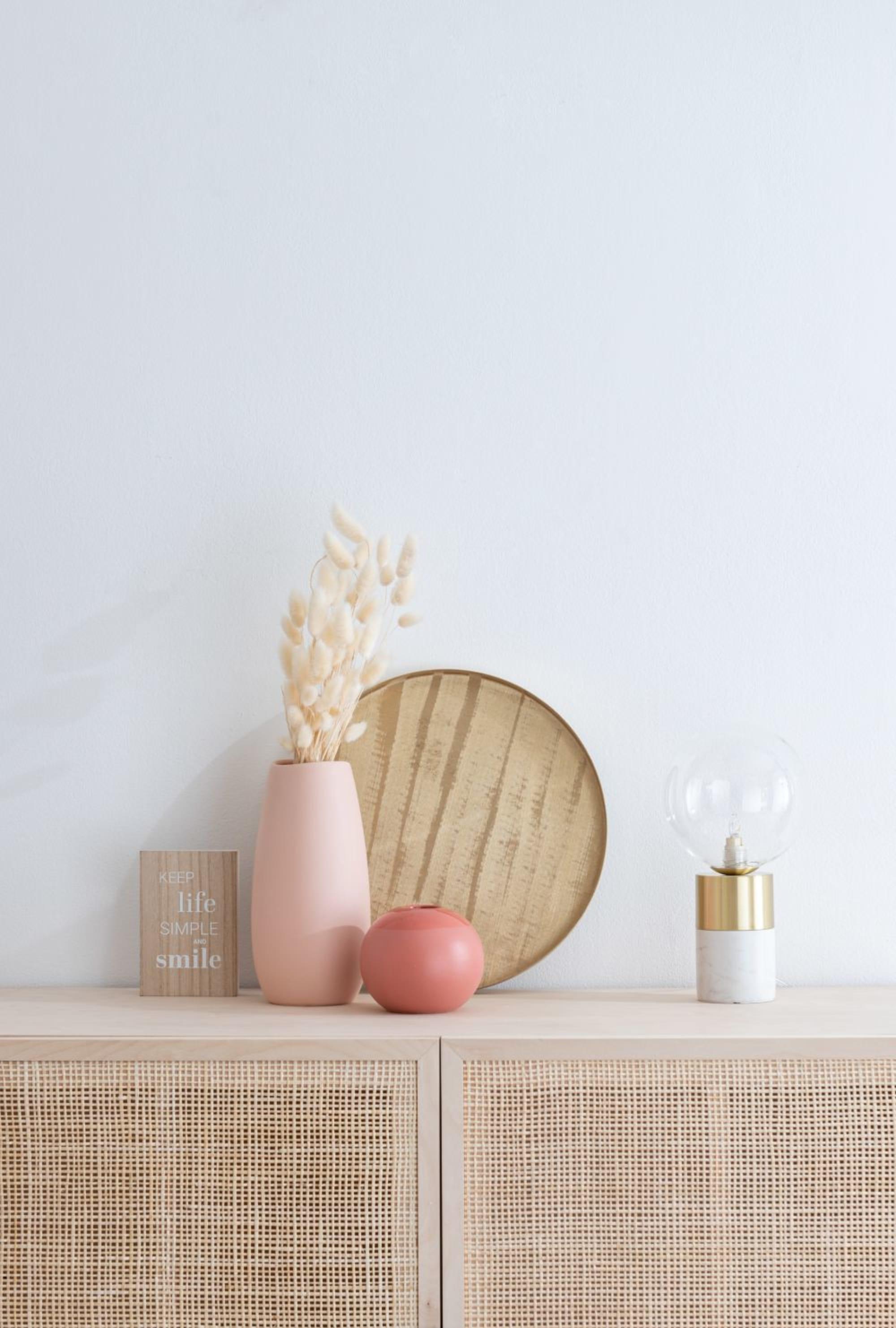 Vase en grès beige rosé - Maisons du Monde