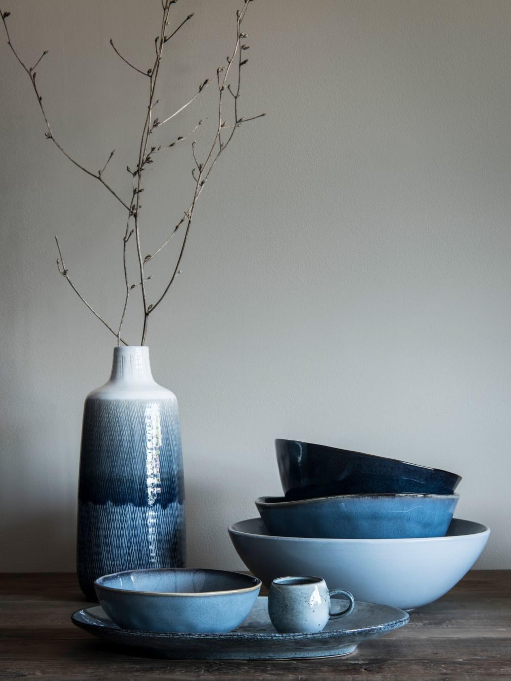 Vase soliflore en grès dégradé bleu - Maisons du Monde