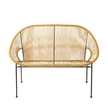 Stackable 2 3 Seater Garden Bench In Resin String And