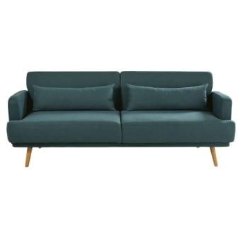 Ausziehbares 3 Sitzer Sofa Konigsblau Elvis Maisons Du Monde
