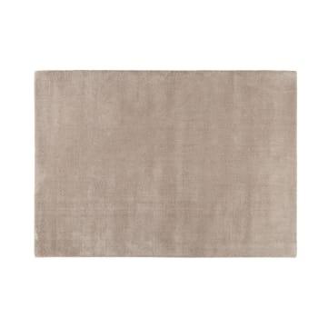 Alfombra de pelo corto gris de lana 140 × 200 cm Soft