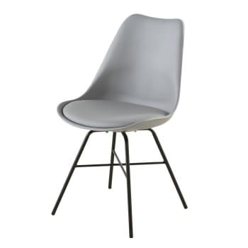 Chaise gris anthracite et pieds en métal noir Wembley