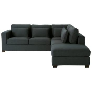 Divano ad angolo in cotone grigio ardesia 5 posti milano for Regalo divano milano
