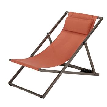 Geliefde Taupe metalen opklapbare ligstoel / strandstoel Split | Maisons du AO78