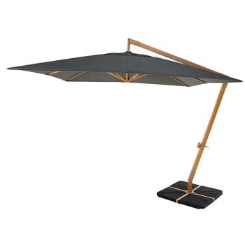 Parasol Déporté En Aluminium Taupe Camberra Maisons Du Monde