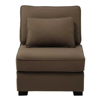 Poltrona modulabile per divano di cotone grigio ardesia for Regalo divano milano