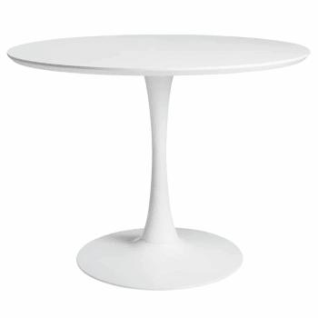 Table à manger ronde blanche 4/5 personnes D100 Circle ...