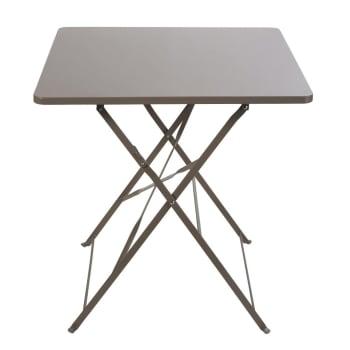 Table de jardin pliante en métal époxy gris 2 personnes L70 ...