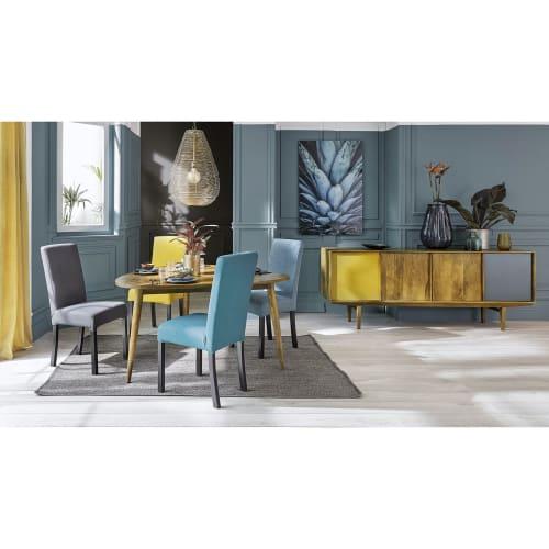 2 sedie da foderare in pino verniciato wengé   Maisons du Monde
