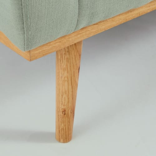 2-Sitzer-Vintage-Sofa, Grau-grün Timeo