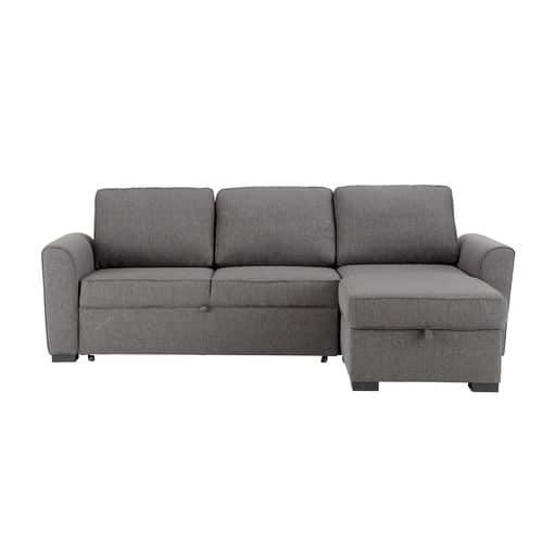 3/4 Seater Grey Fabric Corner Sofa Bed