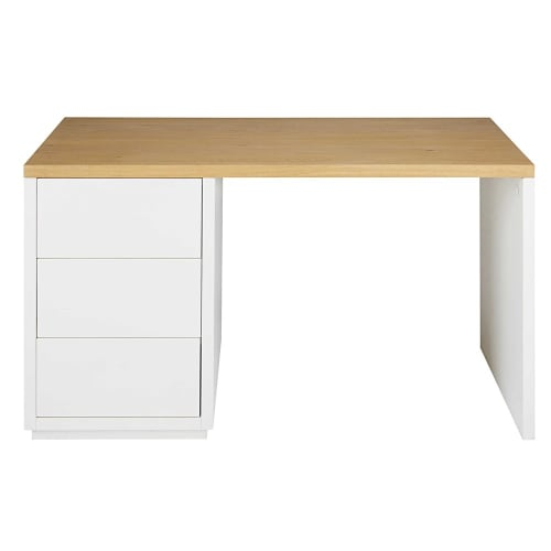 klappbar weiße Platte schwarzer Rand auf Rollen Schreibtisch
