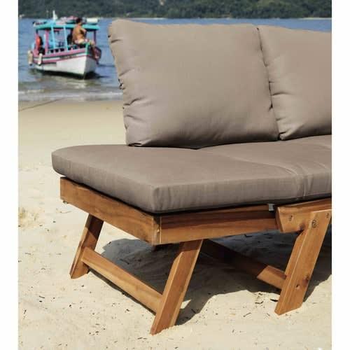 3 Seater Acacia Wood Modular Garden Bench Seat
