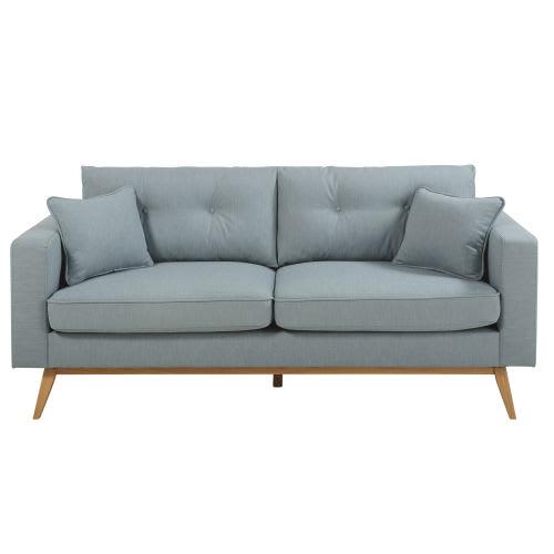 3 Sitzer Sofa Im Skandinavischen Stil Eisblau