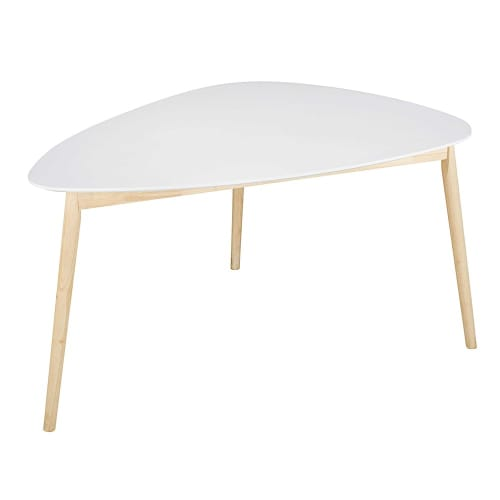 4 5 Seater White Scandinavian Dining Table L150 Spring Maisons Du Monde