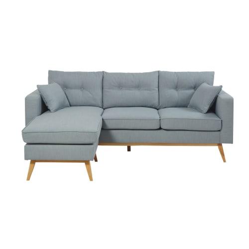 4 5 Sitzer Ecksofa Im Skandinavischen Stil Eisblau Brooke Maisons Du Monde