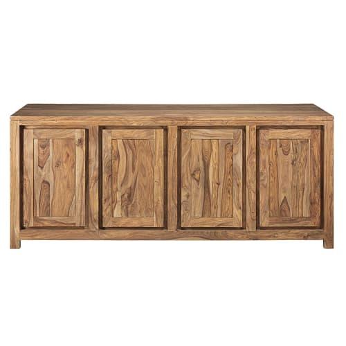 4 türiger Geschirrschrank aus massivem Eschenholz und