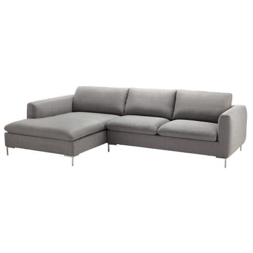 5 Seater Fabric Left Corner Sofa In