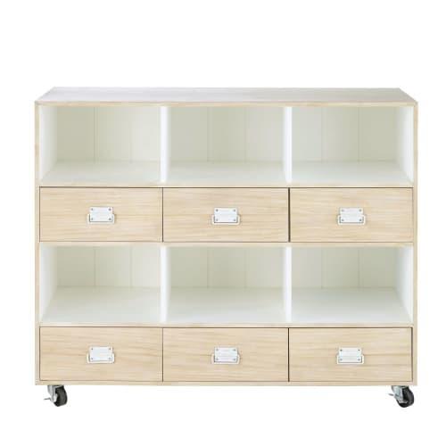 6 Drawer Storage Cabinet On Castors Maisons Du Monde