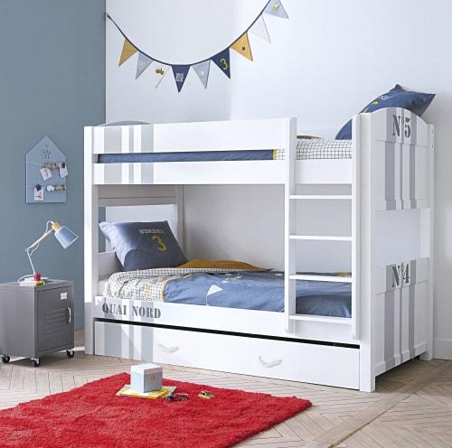 Letto A Castello Maison Du Monde.90x190 Bunk White Beds Quai Nord Maisons Du Monde