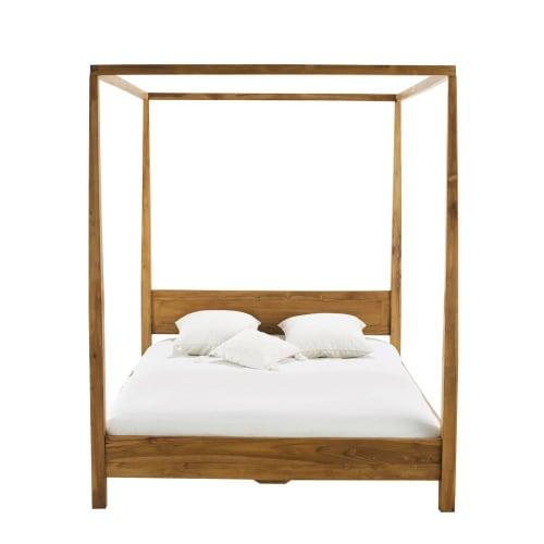Acacia 10 x 10 King Size Four-Poster Bed  Maisons du Monde