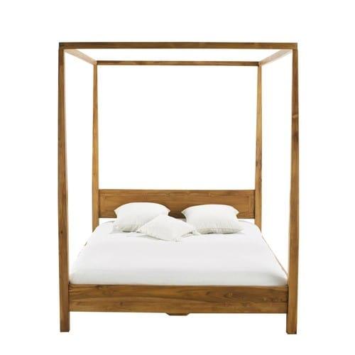 Letti La Maison Du Monde.Acacia 160 X 200 King Size Four Poster Bed
