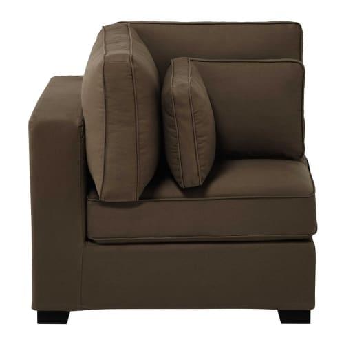 Angolo di divano modulabile di cotone talpa milano for Regalo divano milano