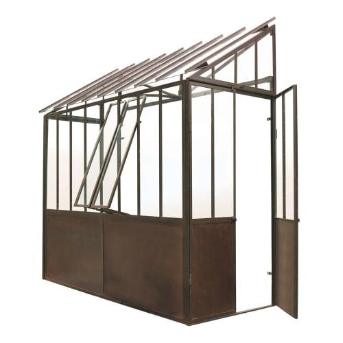 Anlehngewächshaus aus Metall mit Rosteffekt, H 245 cm Tuileries