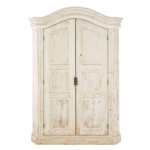 Armoire 9 portes en pin recyclé blanc  Maisons du Monde