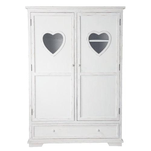 Armoire blanche 9 portes 9 tiroir  Maisons du Monde