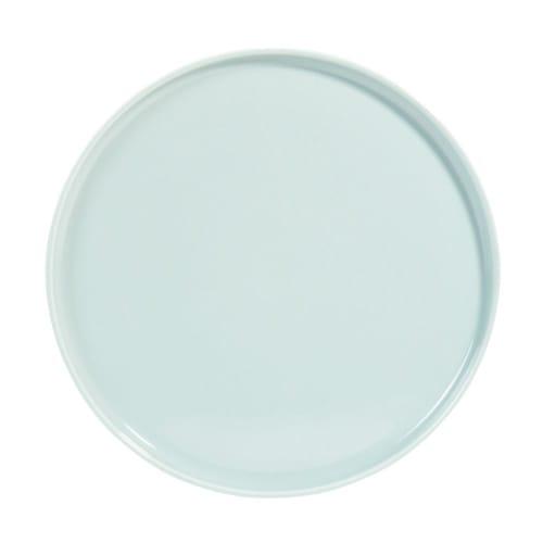 Assiette plate en faïence bleue  Maisons du Monde