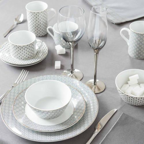 Assiette plate en porcelaine D 8 cm  Maisons du Monde