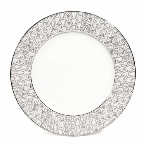 Assiette plate motif vagues en porcelaine D 8 cm  Maisons du Monde