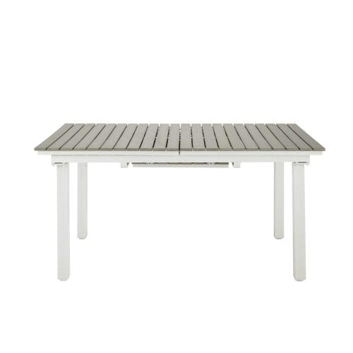 Gartentisch Für 6 Personen.Ausziehbarer Gartentisch 6 10 Personen Aus Verbundmaterial Und Aluminium L157 Maisons Du Monde