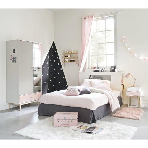 Baumwoll Bettwäschegarnitur grau rosa 140x200 | Maisons du Monde