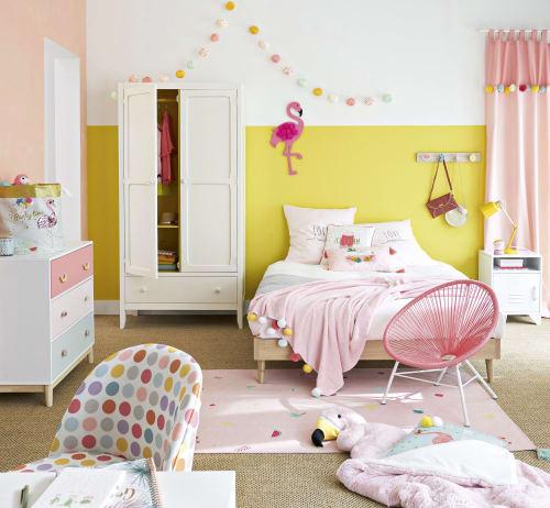Baumwoll Bettwäschegarnitur grau rosa 220x240 | Maisons du Monde