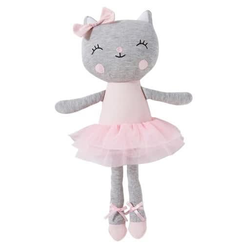 Baumwoll-Plüschkatze Ballerina