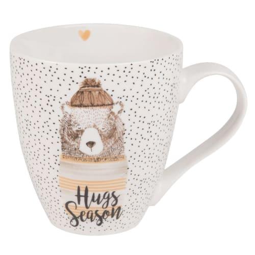 Bear Print White Porcelain Mug