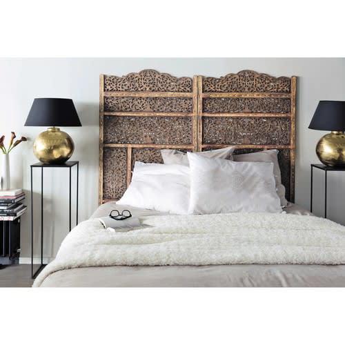 Bett-Kopfteil aus Holz, B 160 cm