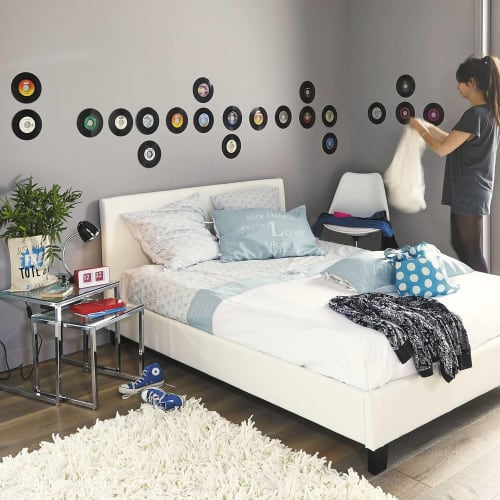 Bett Mit Lattenrost 160 X 200 Weiß Zen