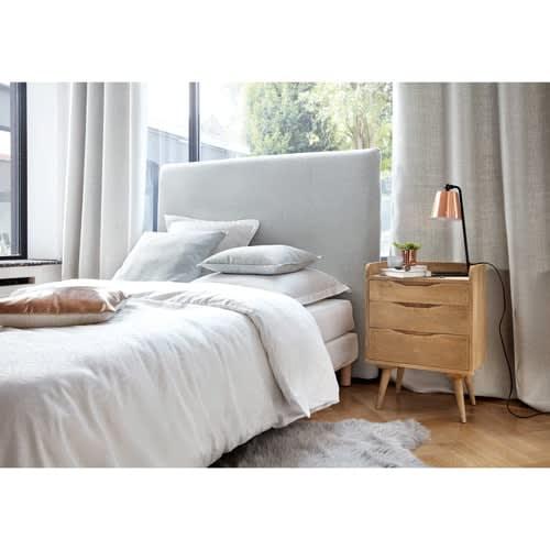 Beziehbare Bett-Kopfteil aus Holz, B 140 cm