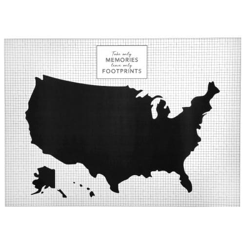 Wall Stickers Mondo.Black And White United States Wall Sticker