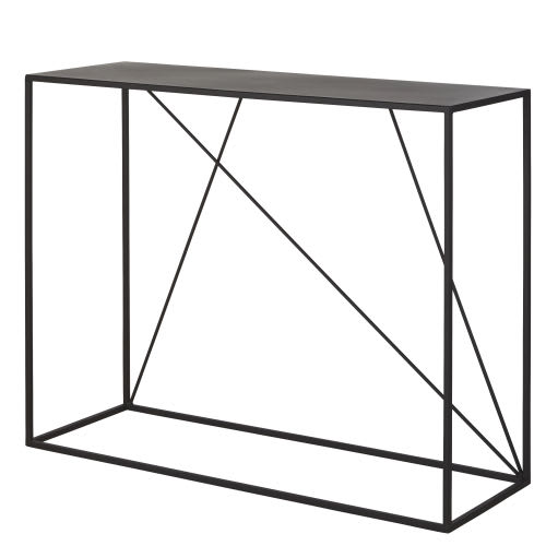 sports shoes 3fe38 4bc5e Black Metal Console Table