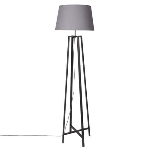 Black Shade Lamp H160 with Floor Grey Metal XiOkwTlPZu