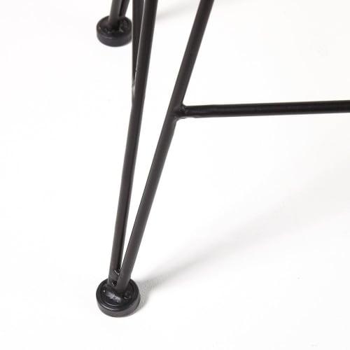 Brilliant Black Rope And Black Metal Stool Forskolin Free Trial Chair Design Images Forskolin Free Trialorg