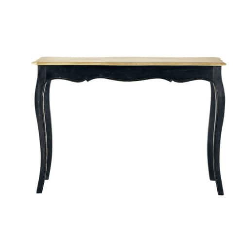 Black Solid Mango Wood Console Table